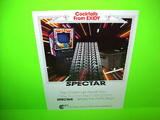Exidy SPECTAR Original NOS 1980 Retro Classic Video Arcade Game Sales Flyer #1
