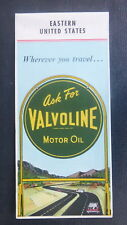 1958 Eastern United States   road  map Valvoline oil  gas Ashland Aetna Frontier