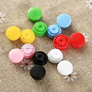 1Bag Mix Color Plastic T5 Resin Snap Fastener Press Button Stud For Cloth Craft