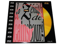 Serge Gainsbourg LE ZÉNITH DE GAINSBOURG LaserDisc CD Video 1989 Polygram PAL