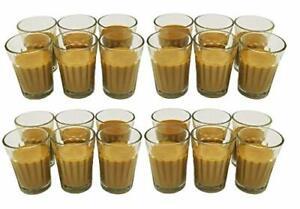 Glass Chai Glass -Pack of 24, 100 ml.