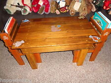 childrens collectable table and chair set with book storage