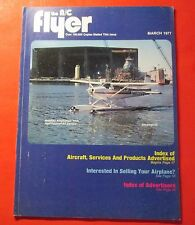 THE A/C FLYER MAGAZINE MARCH/1977...INDEX OF AIRCRAFT, SERVICES AND PRODUCTS
