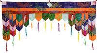 Chukor - Tür 99 cm x 40 cm - Tibetischer Türbehang - Handarbeit aus Nepal