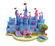 Blue Castle 3D Model DIY Puzzle Crafts Children Great Gift Kids Toy Christmas
