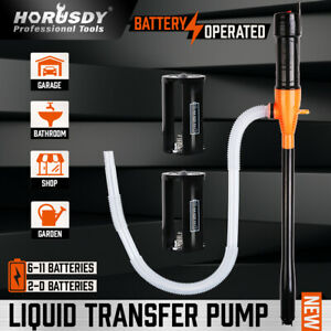 Deluxe Liquid Transfer Siphon Pump Battery Powered Gas Oil Water Fish Tank NEW