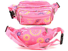 Ladies Polyester  Pink Floral Bum Bag By Lorenz New  & Tagged