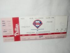 PHILA PHILLIES BASEBALL TICKET 8/16/2000 VS ARIZONA DIAMONDBACKS
