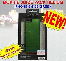 NEW MOPHIE JUICE PACK HELIUM BATTERY CASE FOR iPHONE 5 & 5S 1500 mAh GREEN NEW!