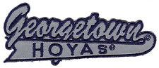 "GEORGETOWN HOYAS NCAA COLLEGE 4"" SCRIPT LOGO PATCH"