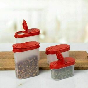 SET OF 4 TUPPERWARE MODULAR SPICE SHAKERS ( AIR & WATER TIGHT) NO LEAKAGE