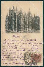 Milano Città Duomo PIEGA cartolina XB2350