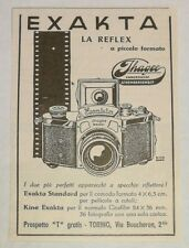 Pubblicità vintage 1937 EXAKTA REFLEX JHAGEE FOTO PHOTO advertising publicitè