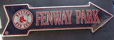 Boston Red Sox Fenway Park Tin Metal Arrow Sign MLB Baseball Sports Bar Gameroom