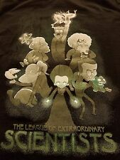 Science Legends Hero's The League of Extraordinary Scientists Geek Mens T-Shirt