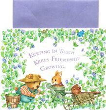 Bear & Bunny Friendship Garden Gardening Blank Note Cards By Jan - Hallmark