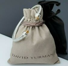 David yurman 5mm Cable Classic Bracelet with Morganite and Diamonds size Small