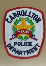 CARROLLTON, TEXAS POLICE SHOULDER PATCH TX