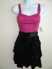 Women's Aeropostale Tiered Black Pink Dress Size XL Sale