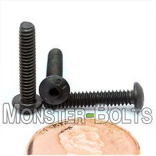 "#4-40 x 5/8"" - Qty 10 - BUTTON HEAD Socket Cap Screws  Alloy Steel Black Oxide"