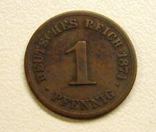 1874-C Germany 1 Pfennig Coin