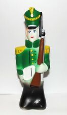 Toy soldier. Squeaky rubber bath toy. Hand painted.