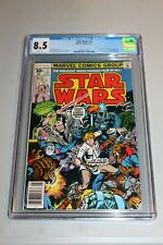 CGC 8.5 White Pages Star Wars 2 1977 1st Print App Han Solo Chewbacca  RARE HTF