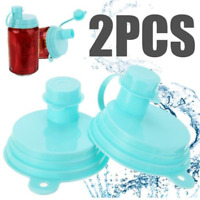 2 Pcs Reusable Soda Saver Beer Beverage Can Cap Top Cover Lid Protector Drinking