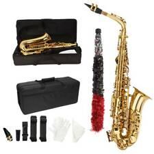 New Student Paint Gold Alto Eb Sax Saxophone w/ Case Accessories