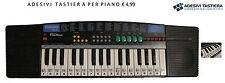 ADESIVI STICKERS PER TASTIERA MUSICALI NOTE PIANOFORTE PIANO PIANOLA IMPARARE
