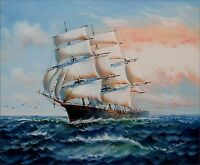 Sailing Ship 8, Quality Hand Painted Oil Painting 20x24in
