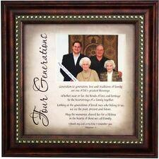 4 Generations Poem Frame - Great Grandparent Gift - 4 Generations Photo Frame