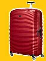 Samsonite Cosmolite X Large 81cm Red Case 4 Wheel Roller Lite Shock - New Boxed!
