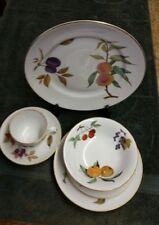 Royal Worcester Evesham China 5 pc place setting Dinner Salad P BB Cereal Cup S