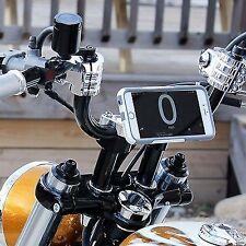 Klock Werks Chrome Motorcycle Handlebar Riser Phone Clamp Mount 84-16 Harley XL