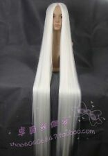 Hot sell !!! New Extra Long white Cosplay Wig 60 inch High Temp 150cm wigs