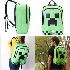 Girls Boys Minecraft Creeper  Backpack Waterproof Hiking Vintage Storage Bag