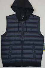 Polo Ralph Lauren Navy Performance Down Quilted Hooded Vest XL NWT $145