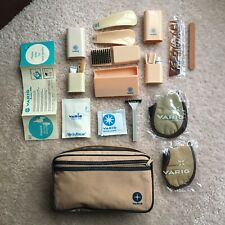 Vintage Varig Airline First Class Travel Toiletry Bag With New Accessories Rare