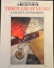 Through The Years-Golden Standards Piano/Voca 00004000 L Music Book Enlarged Notes Visual
