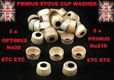 PRIMUS STOVE CUP WASHERS KEROSENE STOVE PUMP WASHERS PARAFFIN STOVE OPTIMUS