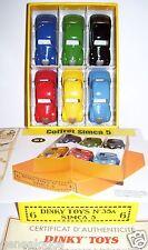 LE DERNIER CASKET COFFRET DINKY ATLAS SIMCA 5 avec 6 MODELES REF 35A 1/56 BOX