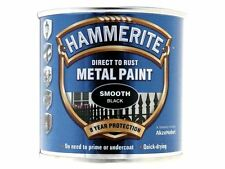 Hammerite - Direct to Rust Smooth Finish Metal Paint Black 250ml