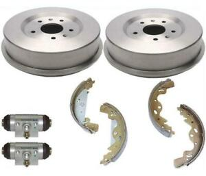 Rear Brake Drum Drums Shoes Wheel Cylinder Kit 2002-2005 Land Rover Freelander