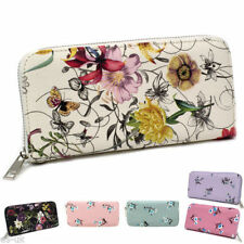 Faux Leather Floral Wallets for Women