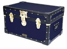NAVY Traditional Mossman Boarding School Tuck Box Storage Trunk 20 x13 x11   sc 1 st  eBay & Buy Heavy-Duty Luggage Trunks | eBay