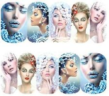 Nail Art Decals Transfers Stickers Frozen Ice Princesses (A-1193)