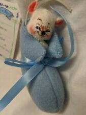 """Annalee Dolls 3"""" Baby Bootie Mouse, Boy #198304 with Tag"""