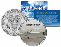 WRIGHT FLYER * Airplane Series * JFK Kennedy Half Dollar Colorized US Coin