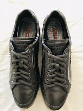 Authentic Prada Women Sport Metallic Grey Sneakers Size 36.5